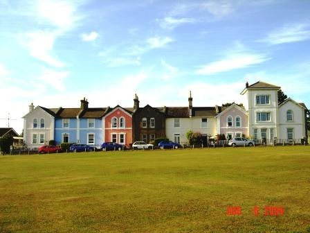 The view of our cottages to rent on Daddyhole plain in Torquay.