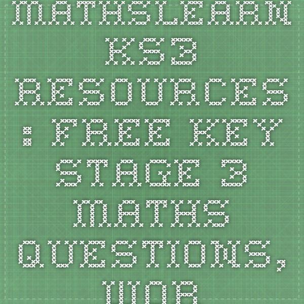 math worksheet : free maths key stage 3  differentiated effective and fun maths  : Key Stage 3 Maths Revision Worksheets
