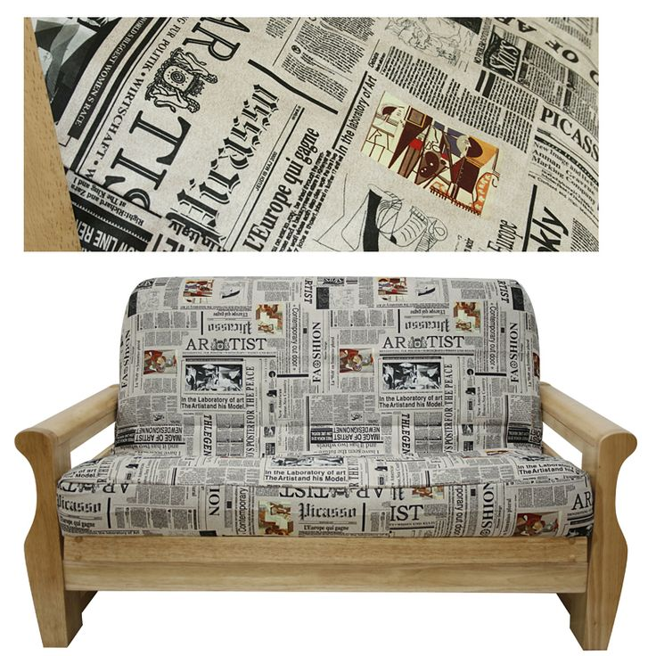 Ultra Suede Fashion News Futon Cover Is An Extraordinary Newspaper Print