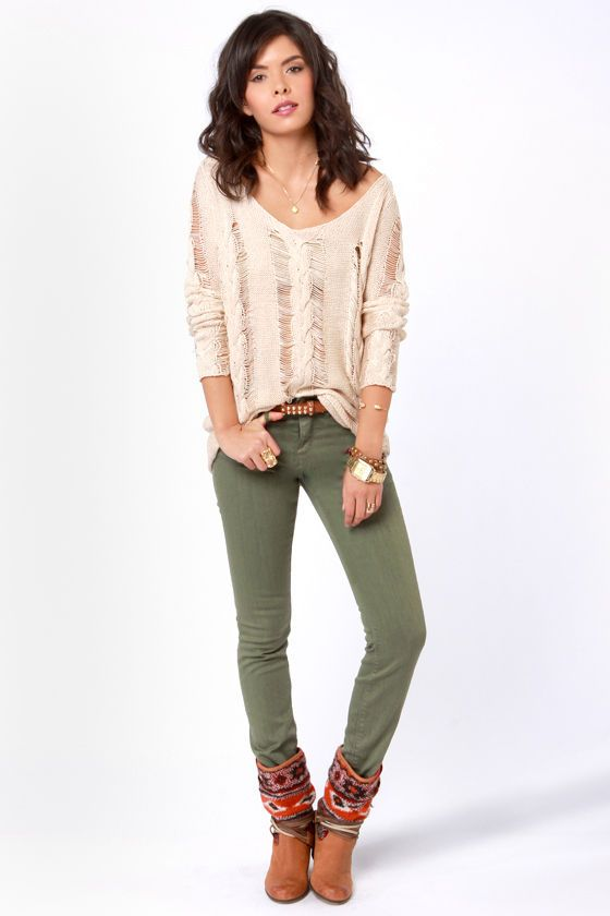 Popular Olive Green Jeans Ideas On Pinterest  Green Jeans Green Pants Outfit