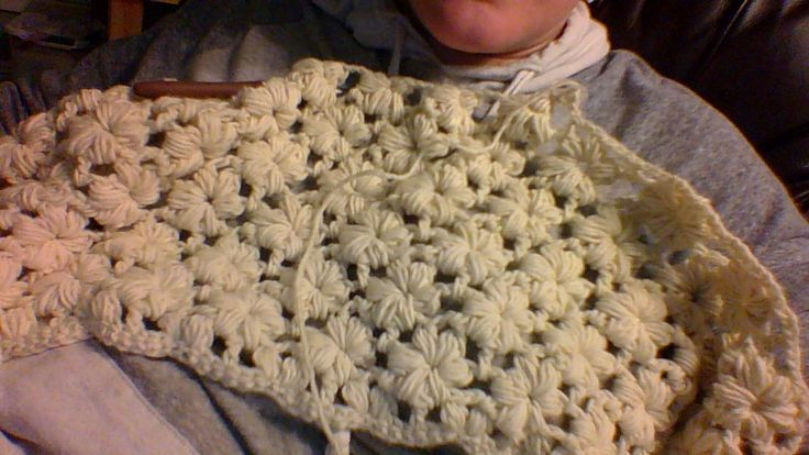 Ravelry: Puff Flower Blanket pattern by Jessica Bie