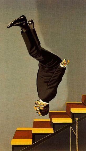 Vestido descendiendo una escalera, Eduardo Arroyo, 1976Eduardo Arroyo