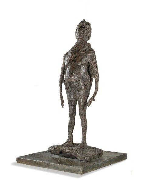 GERMAINE RICHIER ( 1902 – 1959 ) LE PENTACLE 1954 Bronze à patine foncé (fonte à cire perdue) Signé et numéroté 00/6 sur la petite terrasse Cachet du fondeur «Fonderie de la Plaine cire perdue» également… - Morand - 03/11/2015