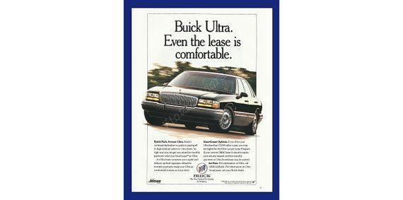 Buick Park Avenue Ultra Car Original 1993 by VintageAdOrama