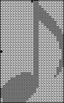 Musical note free cross stitch pattern.