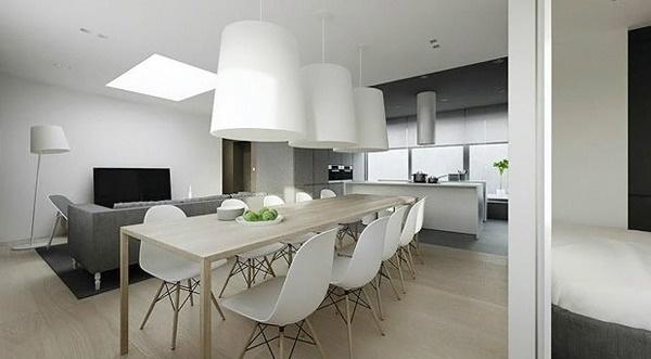 modern minimalistic dining room ideas