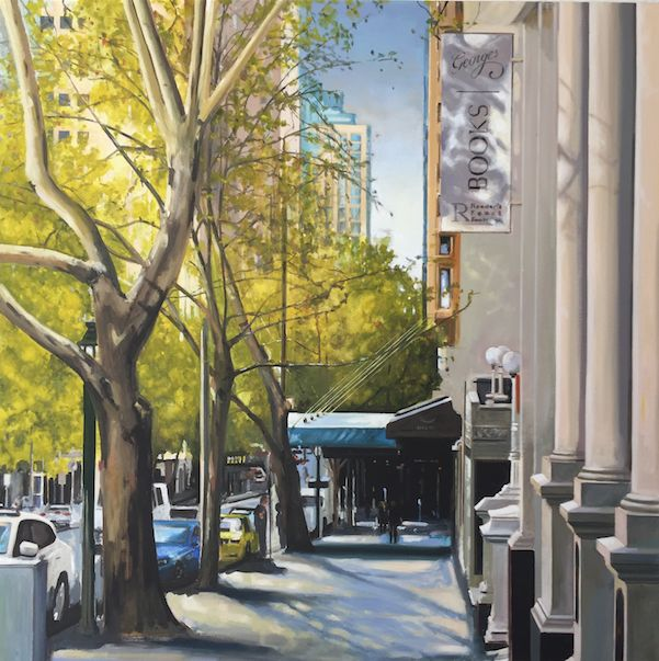 SOLD 'A View Down Collins Street' by Joe Blundell