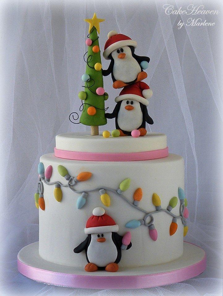 Fondant Cake Designs For Christmas : 262 best Cakes for Christmas images on Pinterest