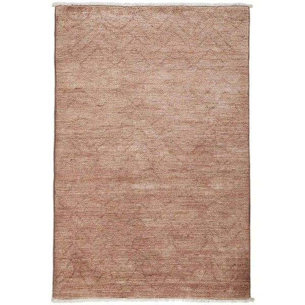 """Vibrance Collection Oriental Rug, 3'10"""" x 5'10"""" ($1,175) ❤ liked on Polyvore featuring home, rugs, fawn, asian rugs, oriental rugs, wool oriental rugs, oriental rug pads and oriental area rugs"""