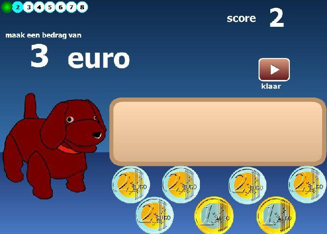 Tellen met euro's