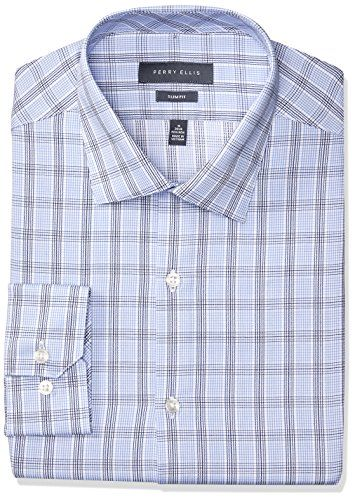 Perry Ellis Collection Men's Slim Fit Glen Plaid Non-Iron Dress Shirt     #Easter #ForHim #ForHer #Holidays #GiftIdeas #Gifts #Affiliate