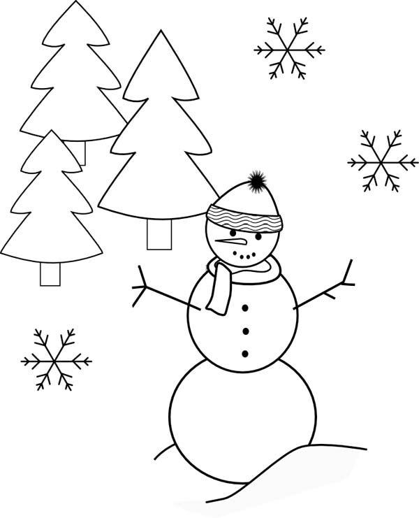 17 Best Images About Coloring Pages For Kids On Pinterest Tree And Snowman Coloring Pages