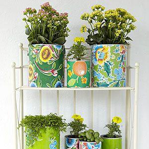 how to make colorful decorative planters - Decorative Planters