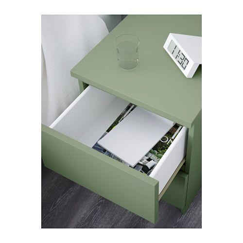 MALM Byrå med 2 lådor IKEA Kan även användas som sängbord. Lådorna som är lätta att öppna och stänga har utdragsstopp.