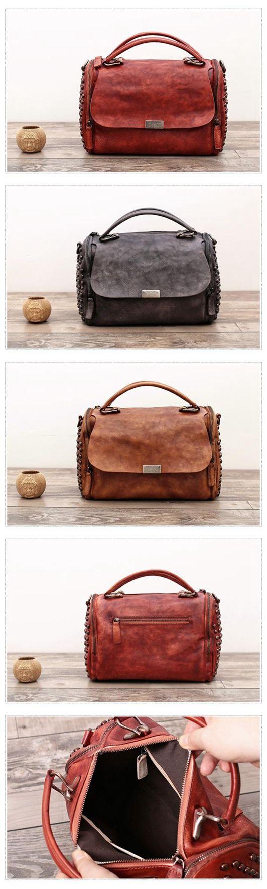 Handmade Full Grain Leather Messenger Shoulder Bag Satchel Handbag WF 85