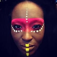 Resultado de imagen para african tribal makeup
