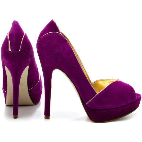 Ivanka Trump Aliza - D Purple Suede (1.702.315 IDR) found on Polyvore · Purple  PumpsPurple ...