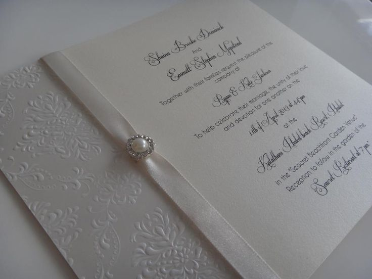 Pearlescent ivory handmade wedding invitations! Available online from www.designsbybrea.com.au