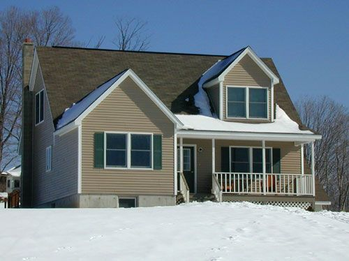 8 best cape cod house with a porch images on pinterest for Cape cod modular