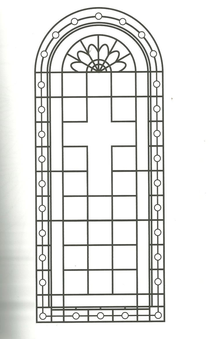 coloring page religious cross stained glass coloring page
