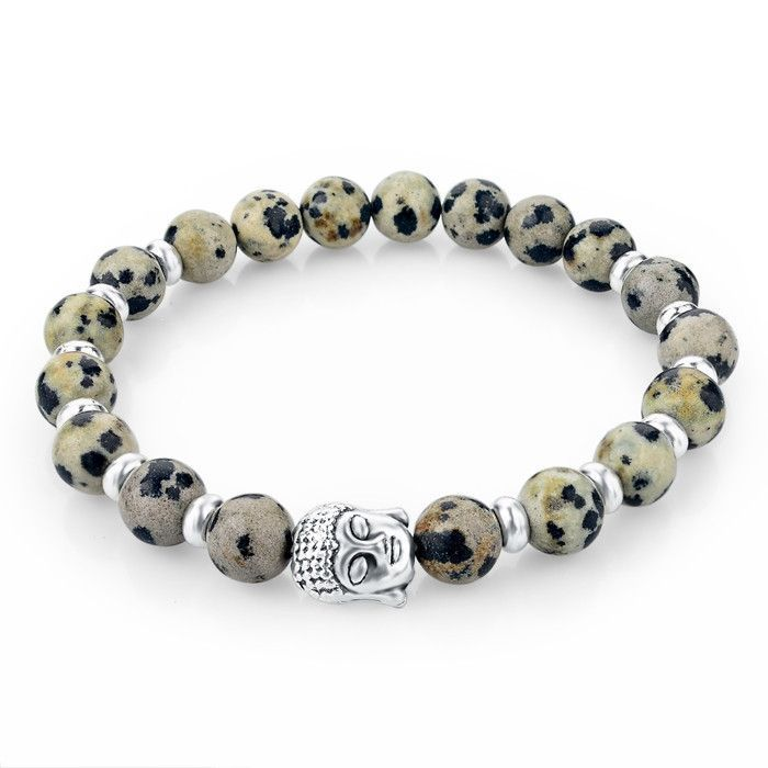 Natural Stone Buddha Charm Bracelets With Stones Beads Bracelets For Women Men Silver Turkish Jewelry Pulseira Masculina