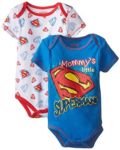Warner Brothers Baby Baby-Boys Newborn Superman Shield 2 Pack Bodysuit Mommy's Little Superman, Blue, 0-3 Months Warner Brothers Baby http://www.amazon.com/dp/B00XYDZDIO/ref=cm_sw_r_pi_dp_Qa6awb0SYM5KP