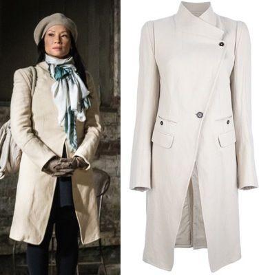 Elementary season 2, episode 12: Joan Watson's (Lucy Liu) Ann Demeulemeester Blanche Structured Asymmetric Coat  #elementary #joanwatson #getthelook