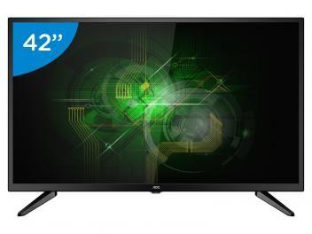 """TV LED 42"""" AOC Full HD LE42M1475 Conversor Digital - 3 HDMI 1 USB R$ 1.499,00 em até 10x de R$ 149,90 sem juros no cartão de crédito"""
