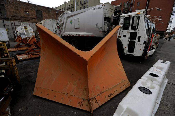 New York-Area Storm May Dump Up to 6 Inches on Snow on Wednesday Weather Forecast Calls for Rain-Snow Mix to Shift to All-Snow by End of Day The Department of Sanitation Garage has snow plows at the ready in New York.