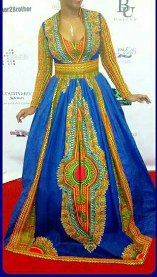 this lovely gown is made from dashiki fabric and is made to fit perfectly. Available in different colours and sizes. Please allow 1 to 2