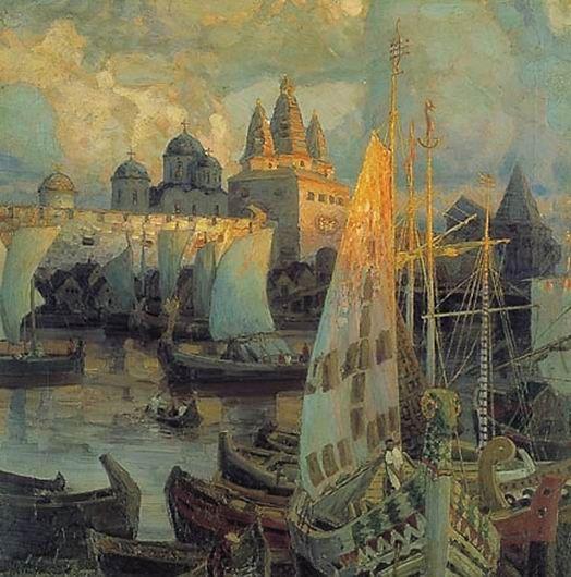 Варяжские корабли в Великом Новгороде, 1902
