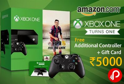 #Amazon #Celebrate 1 year of #XboxOne, Buy Xbox One Console from Cloudtail Seller and get One Additional Xbox One Wireless Controller #Free. Also #offering 50% off on Xbox one #Games and 15% on #Xbox #one #accessories. http://www.paisebachaoindia.com/get-one-additional-xbox-one-wireless-controller-free-amazon/
