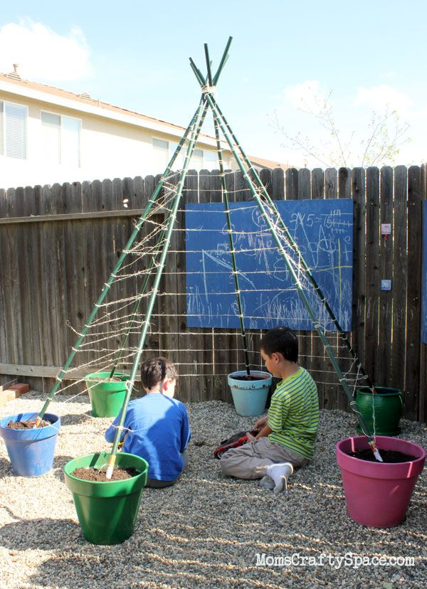 How to Build a Green Bean Tepee ~ Moms Crafty Space