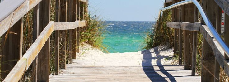 Walkway to the beach in Okaloosa Island -- near our vacation rentals and property sales