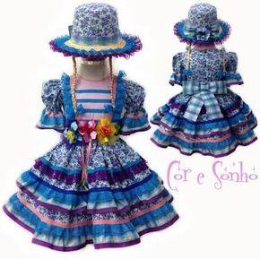 Resultado de imagem para vestido caipira infantil chic