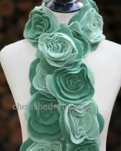 Nice color: Colors, Scarves, Blue Rose, Felt Flowers Scarfs, Rose Scarfs, Cashmere Scarfs, Ruffles Rose, Felt Flower Scarf, Cashmere Ruffles