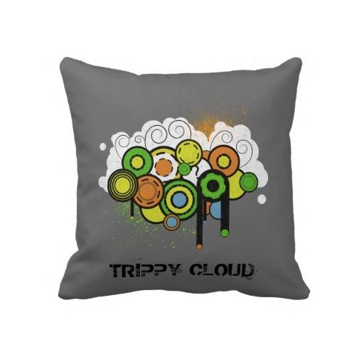 Trippy Cloud Customizable Throw Pillows
