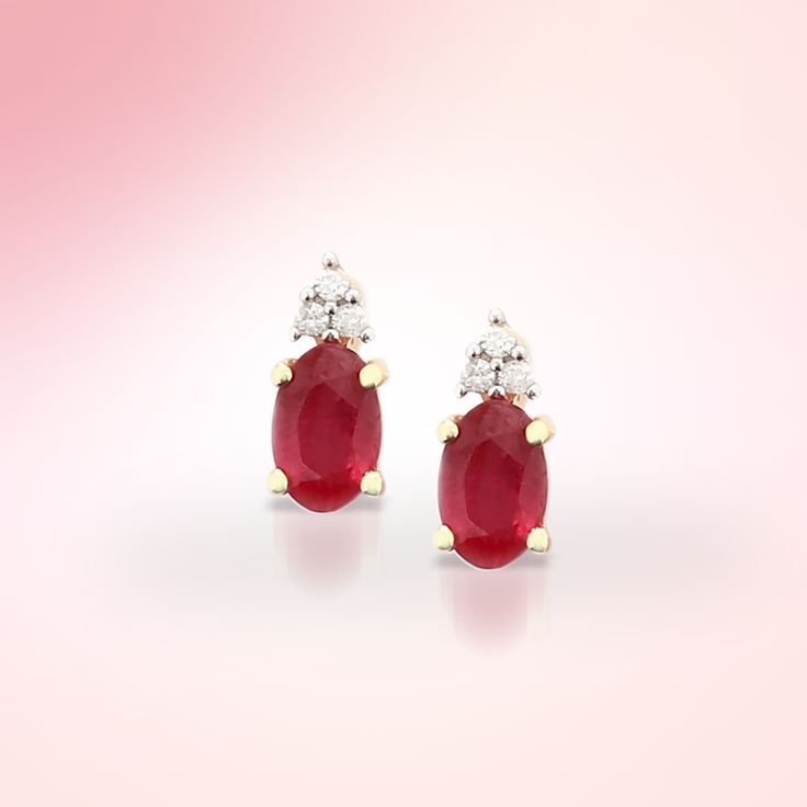Ruby Earring with Diamond | Gemporia India