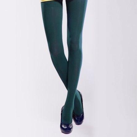 Dark Green Stockings Tights