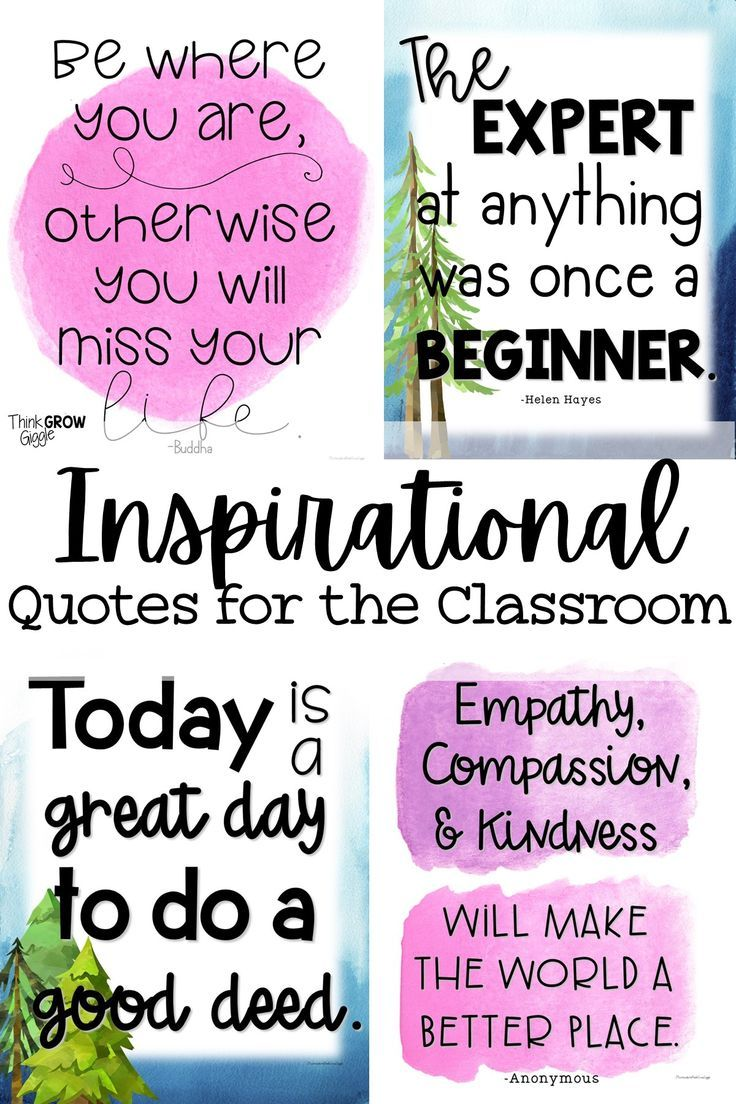 Motivational Quotes For Middle School Students : motivational, quotes, middle, school, students, Inspirational, Classroom, Posters, Motivational, Quotes, Students,, Printable, Quotes,