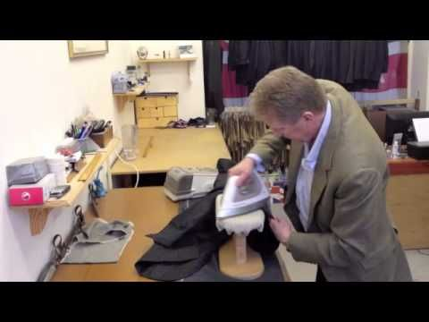 Pressing a Jacket by Savile Row tailor Thomas Mahon of English Cut - I can't believe I hadn't learned this yet!