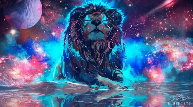 Lion Artistic Colorful Wallpaper Hd Artist 4k Wallpapers Images Photos And Background Lion Wallpaper Lion Tapestry Lion Painting Colourful lion wallpaper hd