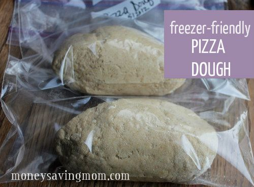 Pizza Dough: Freezer Friendly recipe! Just take it out to thaw before using!