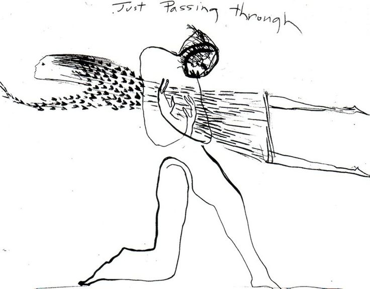 """Just Passing Through"" I've been looking for this picture everywhere; one of Jude's artwork from Across the Universe <3"