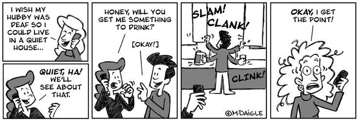 tehehe: Deaf Humor, Deaf Stuff, Asl Deaf, Deaf Children, So True, Deaf Culture, Deaf Pride, Deaf Cartoon, Deaf Guys