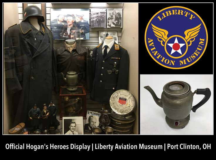 The iconic Hogan's Heroes coffee pot prop is the latest acquisition to the Liberty Aviation Museum's official Hogan's Heroes display.