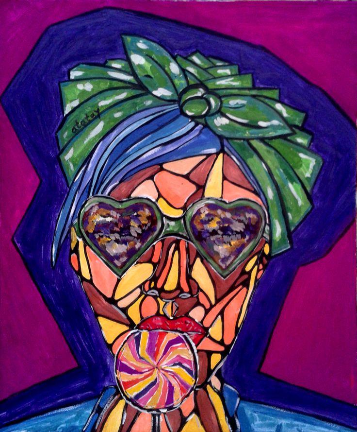 арт рисунок иллюстрация девушка очки конфета art drawing atatay girl glasses candy