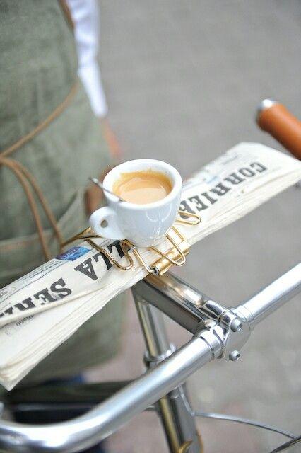 Espresso + newspaper