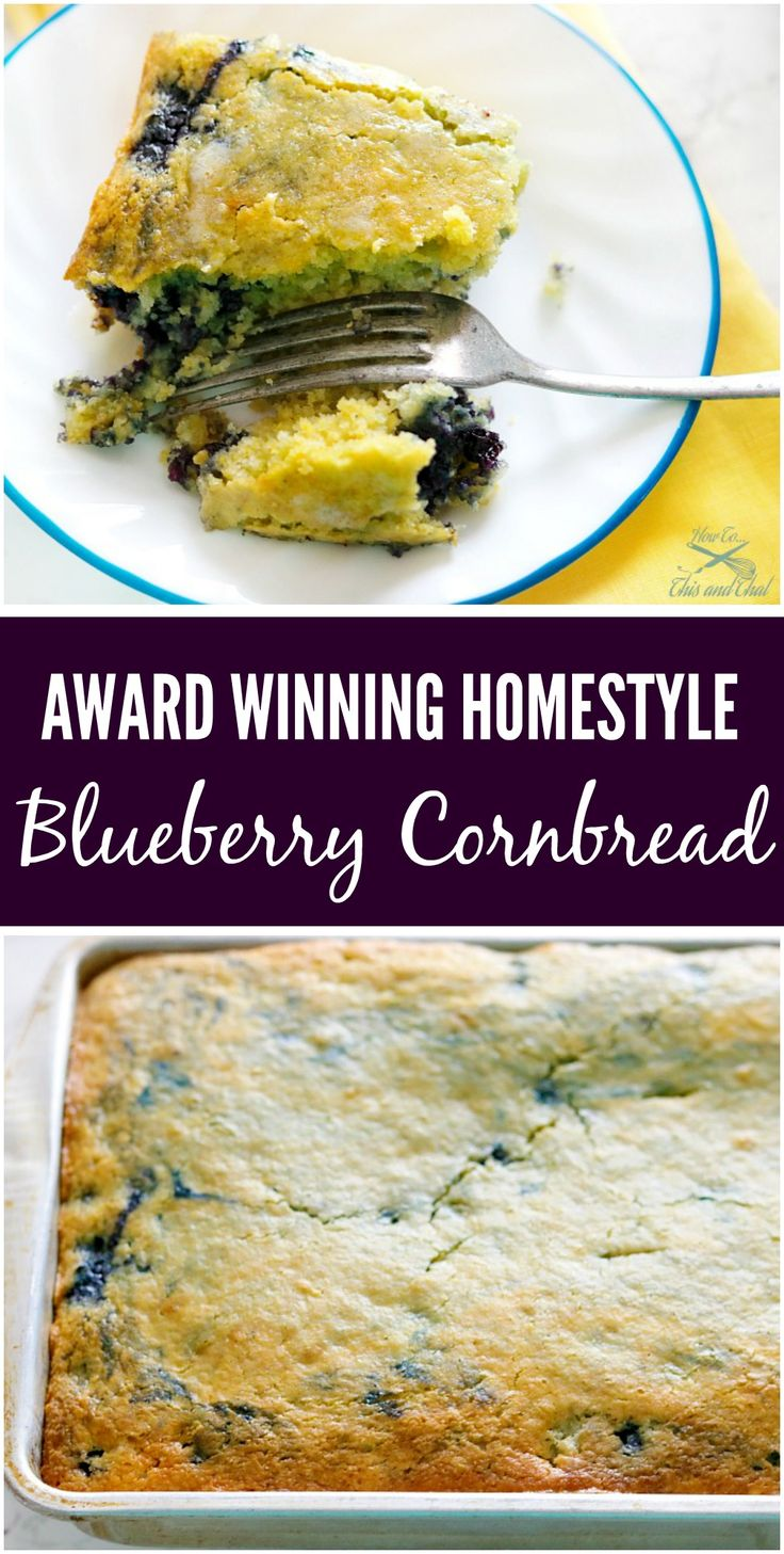 That is right! A blue ribbon homestyle blueberry cornbread recipe, that is super simple and delicious. The trick to this blueberry cornbread is