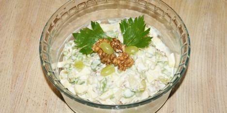 Fedtfattig waldorfsalat